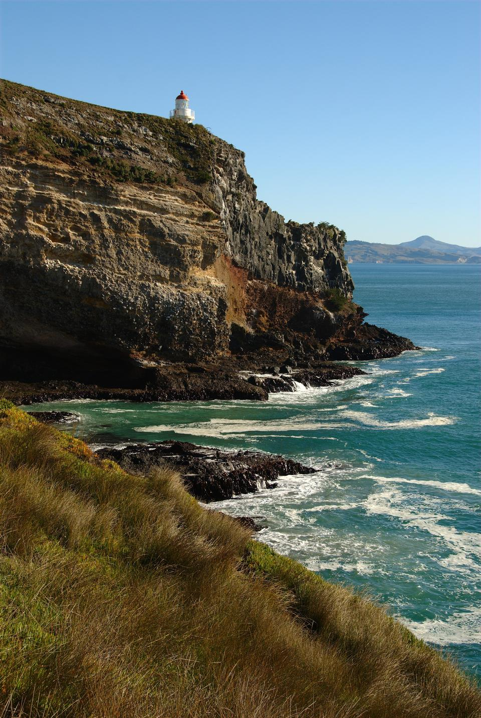 Taiaroa Head Lighthouse, Otago Peninsula, Southland, South Island