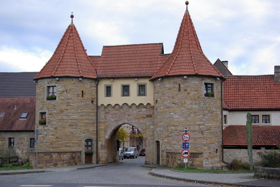 Town gate in Prichsenstadt, Germany