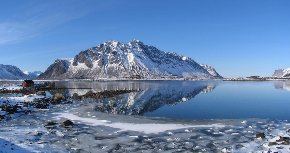 lofoten island during winter time