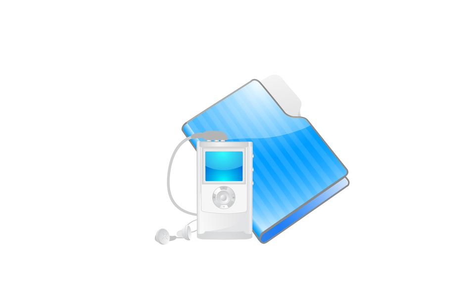 Folder icon and mp3 player