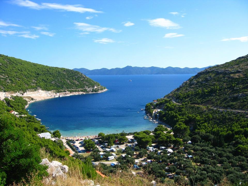 Baia Prapratno sulla penisola di Peljesac, Croazia, Europa