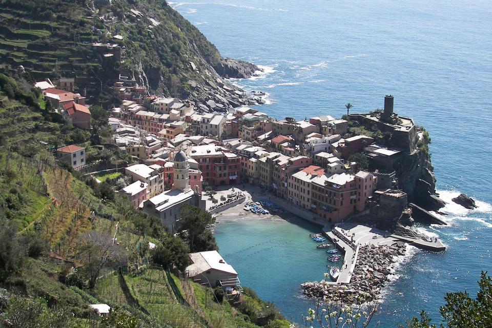 colorido pueblo de Vernazza, Cinque Terre, Italia