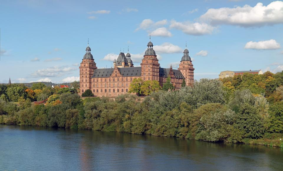 Johannisburg palace in Aschaffenburg near Frankfurt, Germany