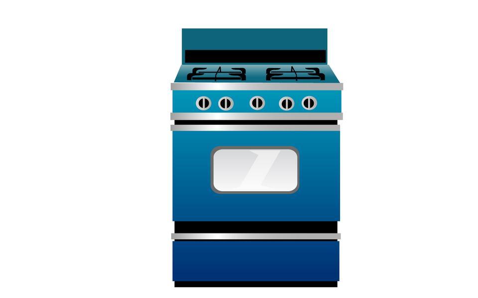 Küche Ofen Symbol auf weißem Hintergrund