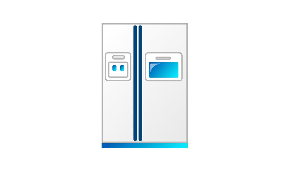 冰箱藍色圖標