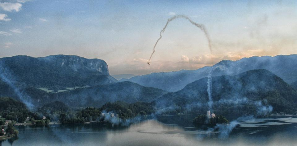 Bled Lake Slovenia Loop air show
