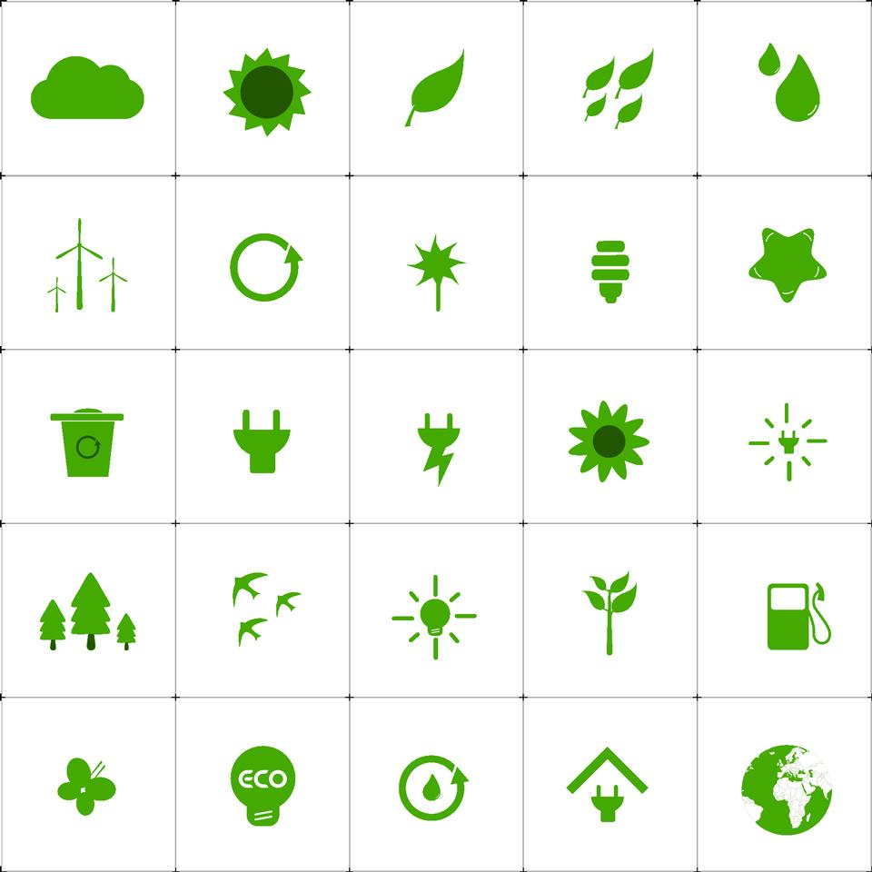 绿色生活生态环境图标设置性质