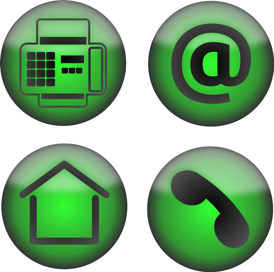 Icons set Office Contact Email Fax Home Phone