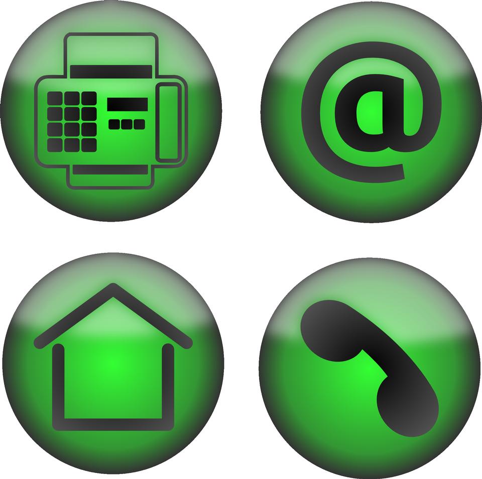 Icons Set Bureau Contact Email Fax Téléphone Accueil