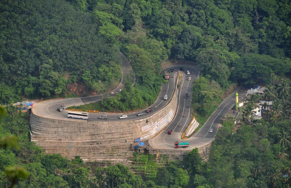 Mountain Pass of Wayanad district in Kerala, India