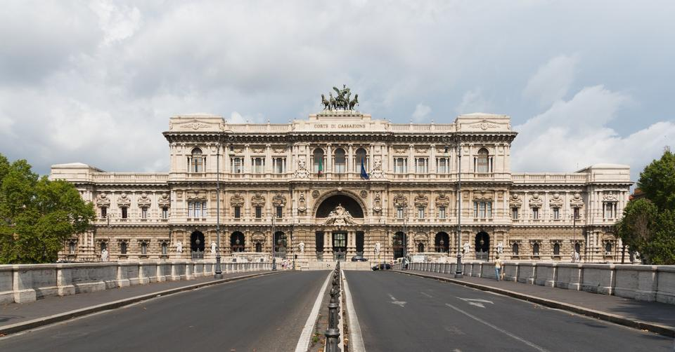 The facade of the Courthouse, Rome, Italy
