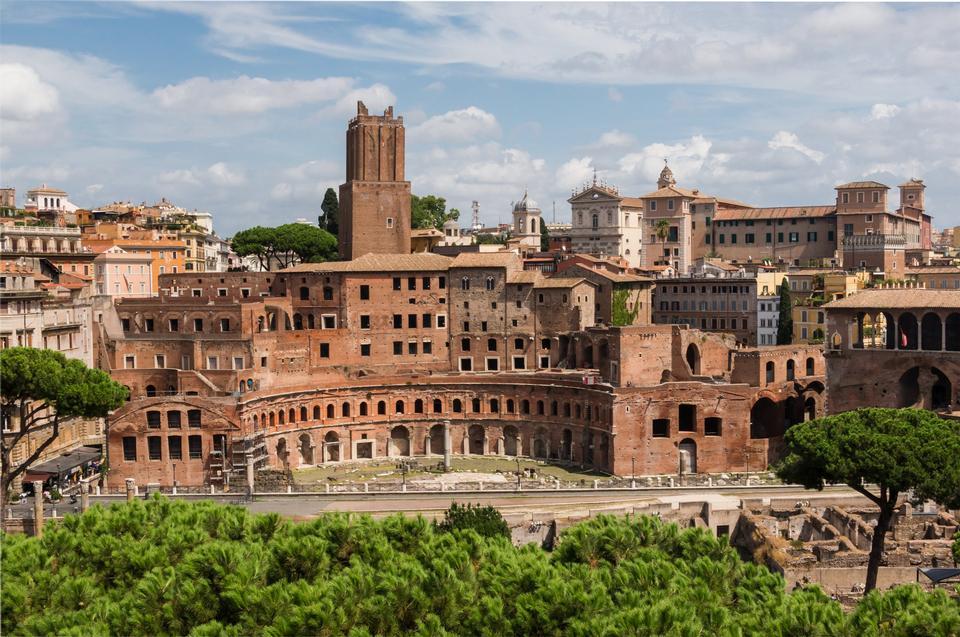 Landscape of the Trajan's market, Fori Imperiali, Rome
