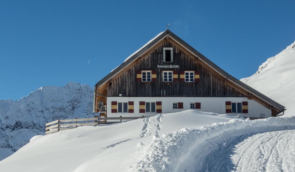 波茨坦HUTTE位于Stubai阿尔卑斯山