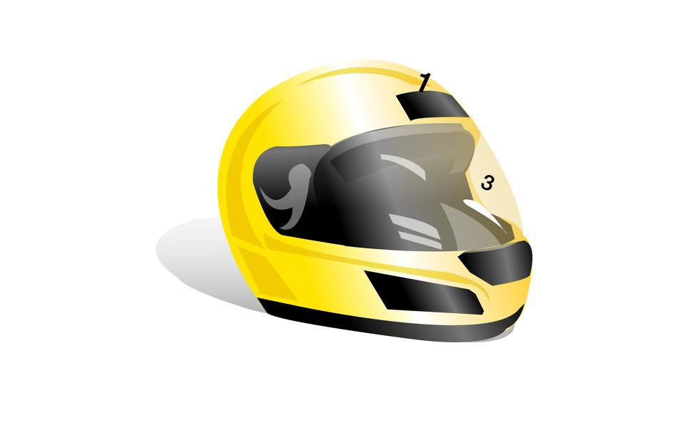 Modern full face motorcycle helmet icon