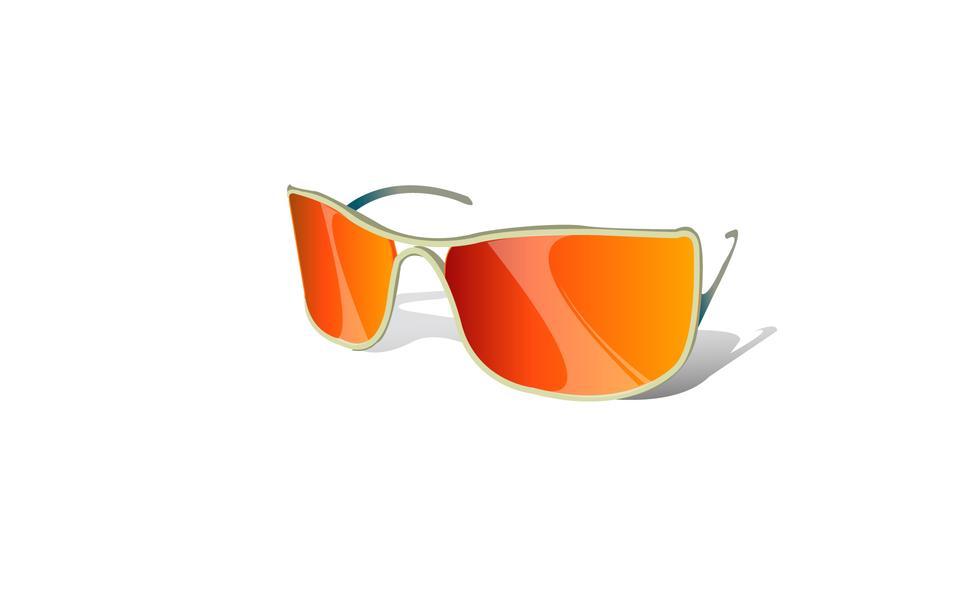 Sport sunglasses on white background