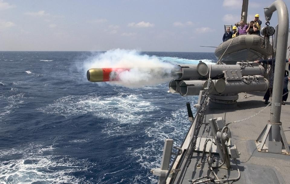 MK-46の運動魚雷が起動され