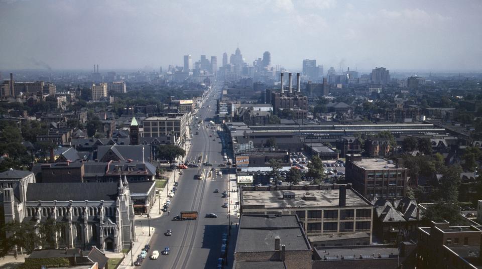 Skyline di Detroit luglio 1942