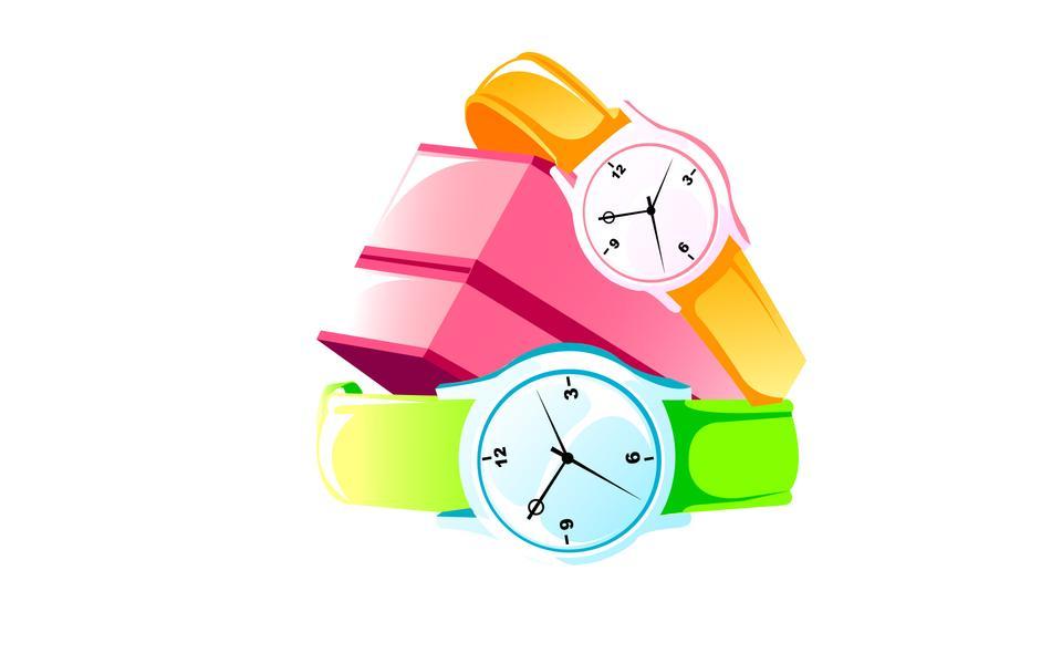 Wrist-watch. Set of clocks