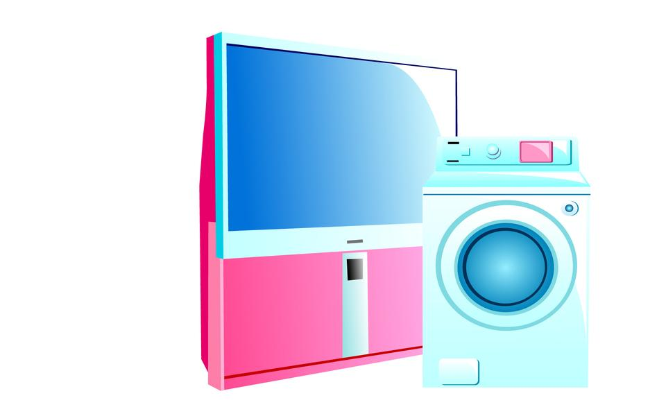 set of of household appliances