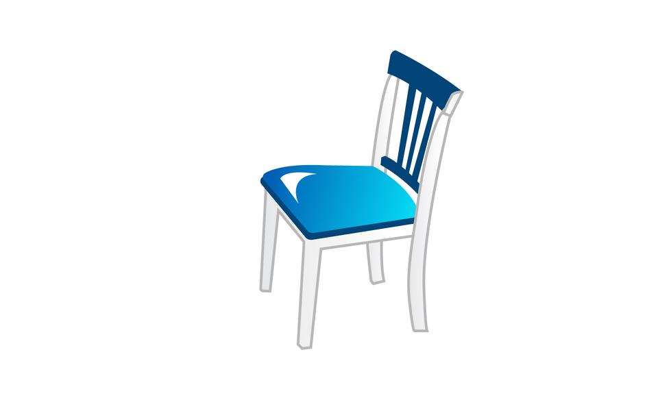 Chair blue classic detailed