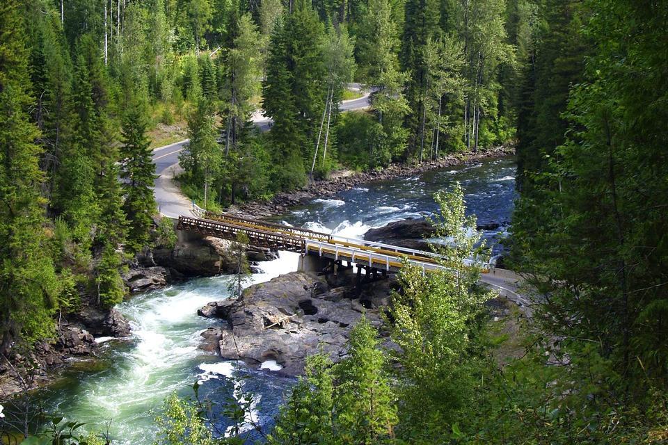 Mushbowl puente del río Murtle en BC Canadá