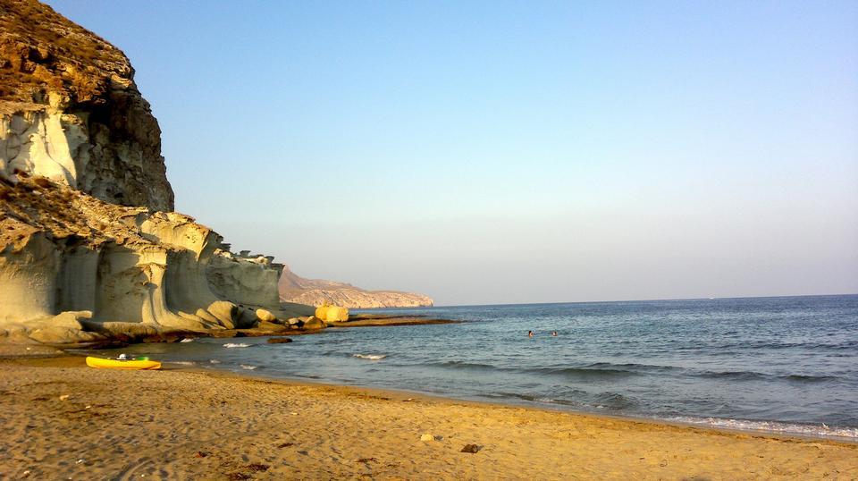 Beautiful Beach Campoo de Enmedio in Spain
