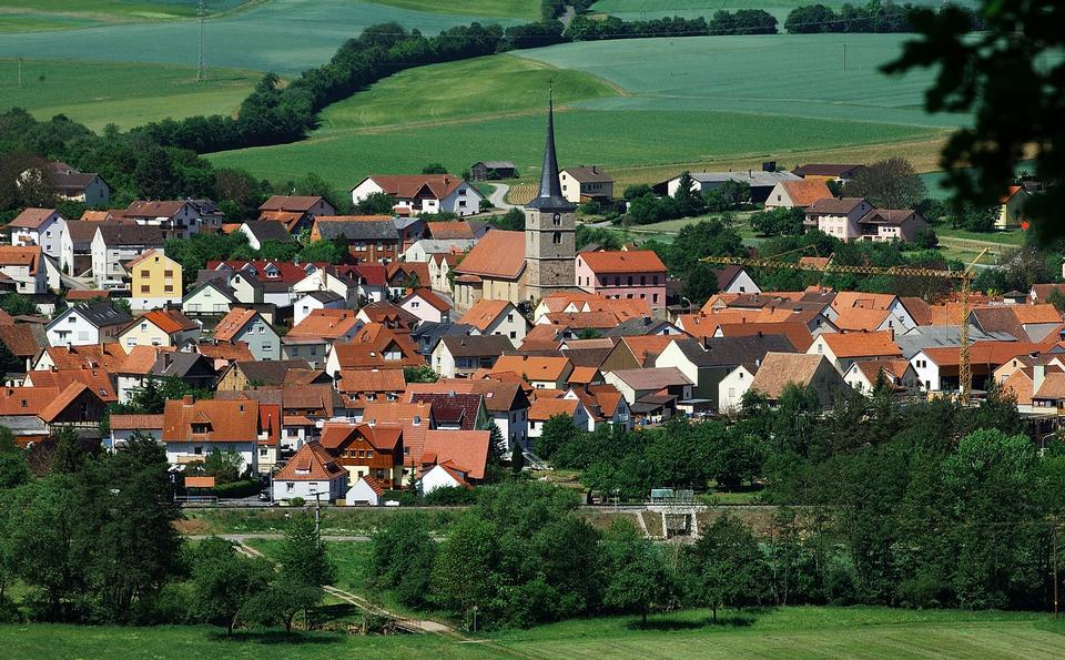 風景如畫的德國巴伐利亞州全景
