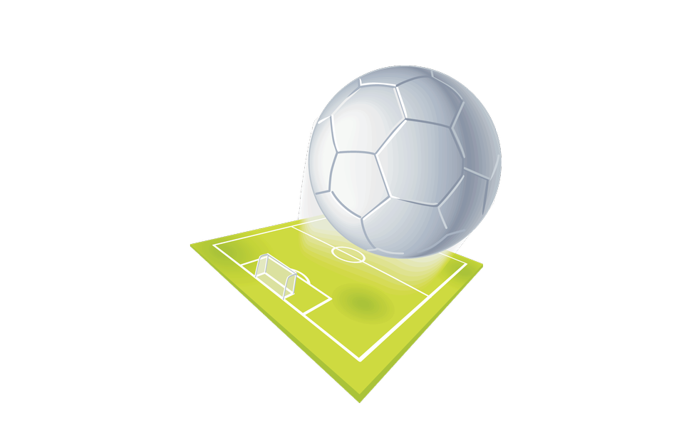 Soccer ground and ball