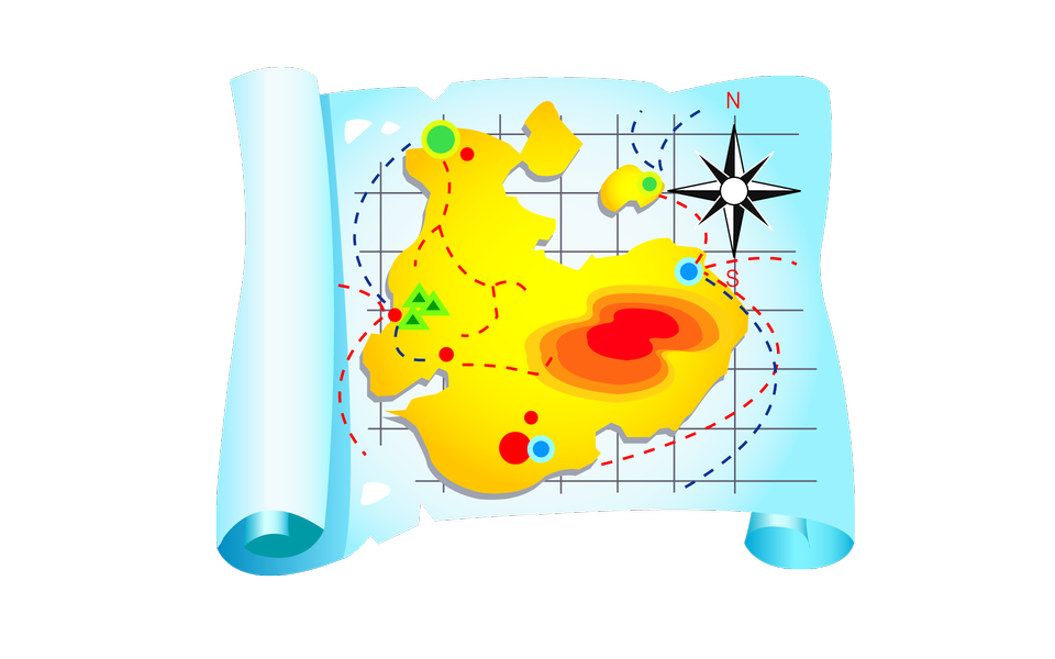 トラベル紙の地図のアイコン
