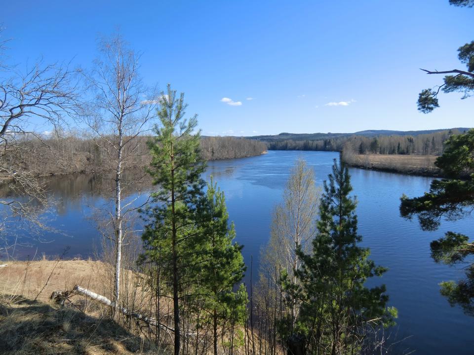 中央スウェーデンのダル川