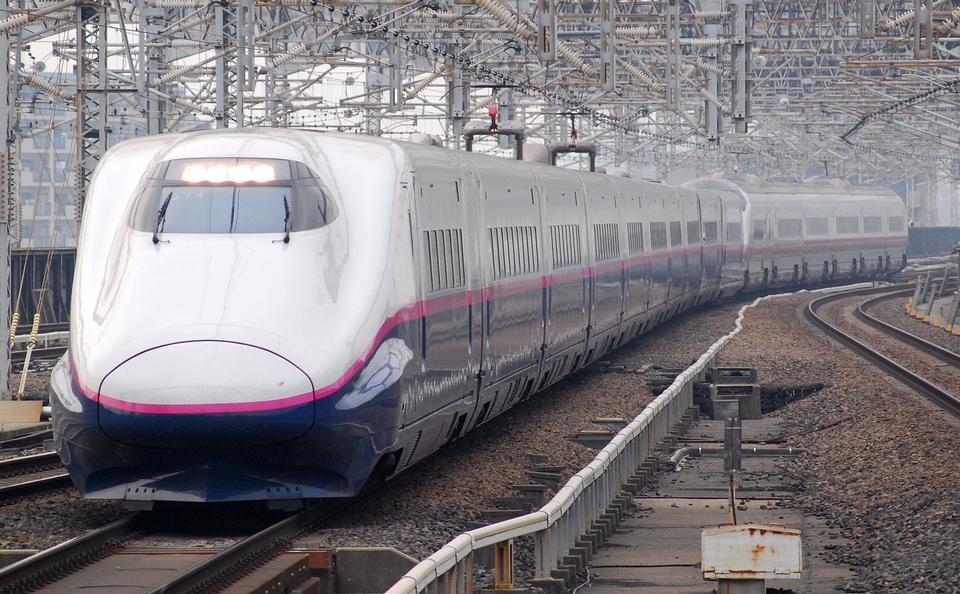 JR approaching Omiya Station