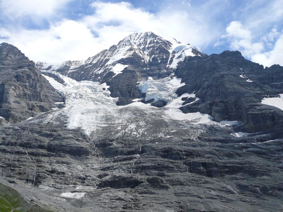 艾格峰北脸在少女峰地区