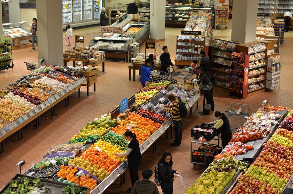 蔬菜在超市