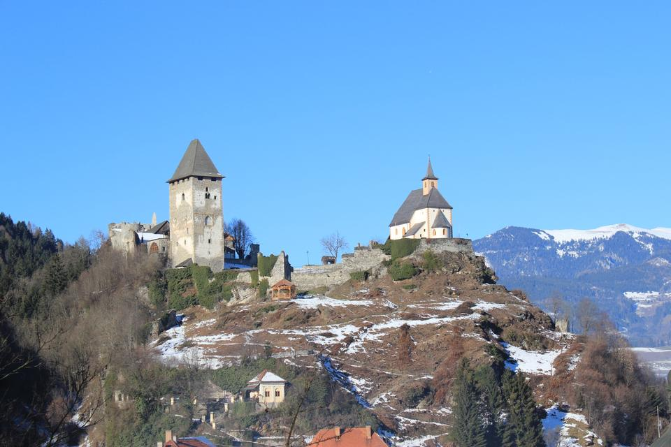 Castle and church on St.Peters mountain