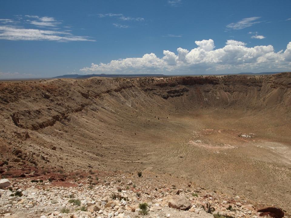 northern rim of Meteor Crater