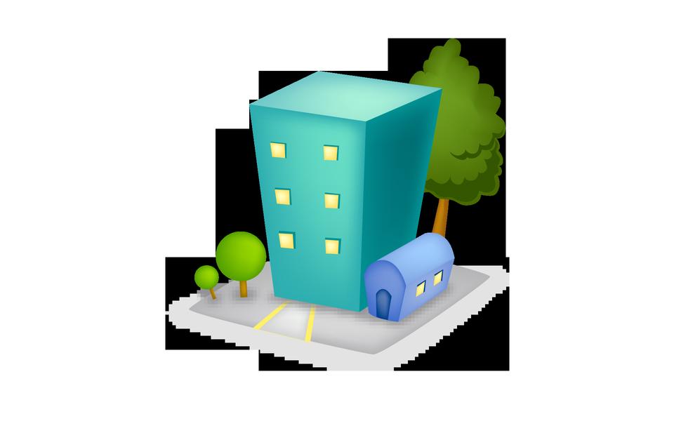 Buildings hotel icon