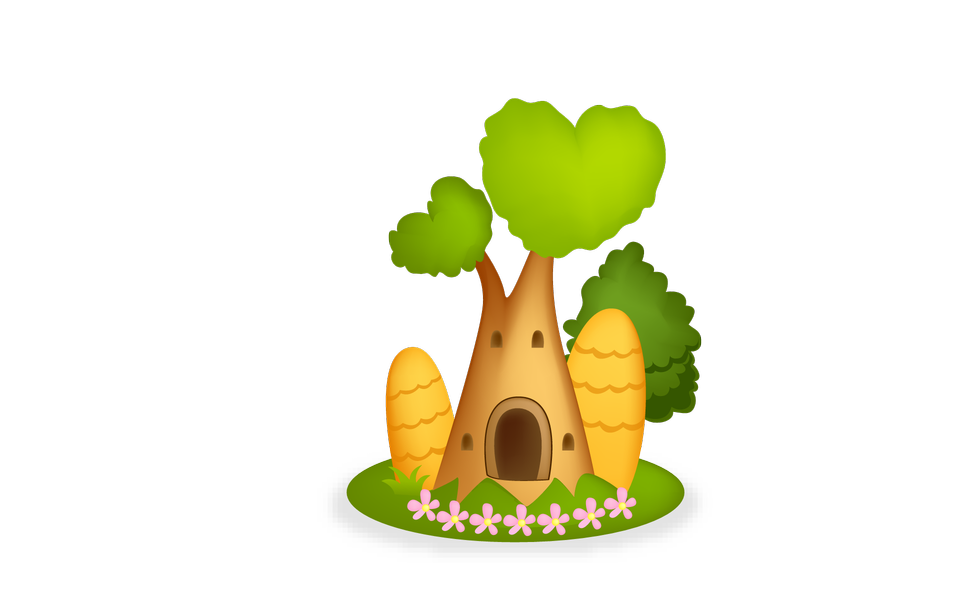 插图景观树屋图标