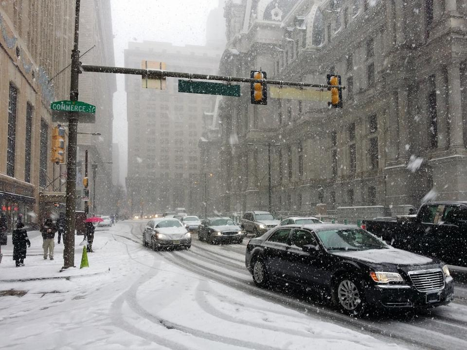 雪街宾夕法尼亚州费城