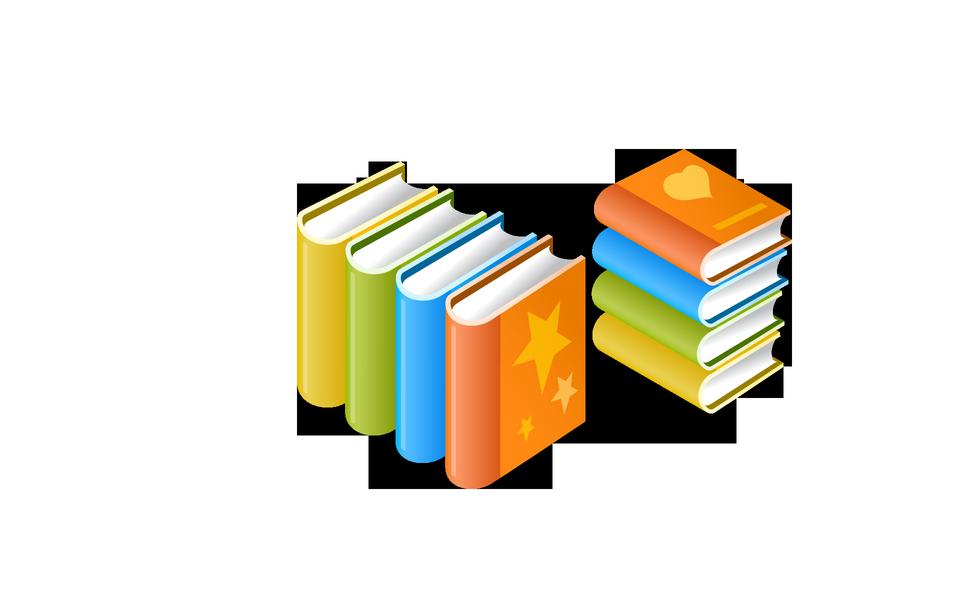 色とりどりの本のアイコンのスタック