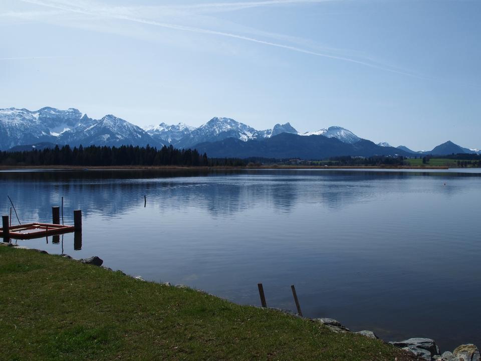 Village of Hopfen am See at Lake Hopfensee,Bavaria