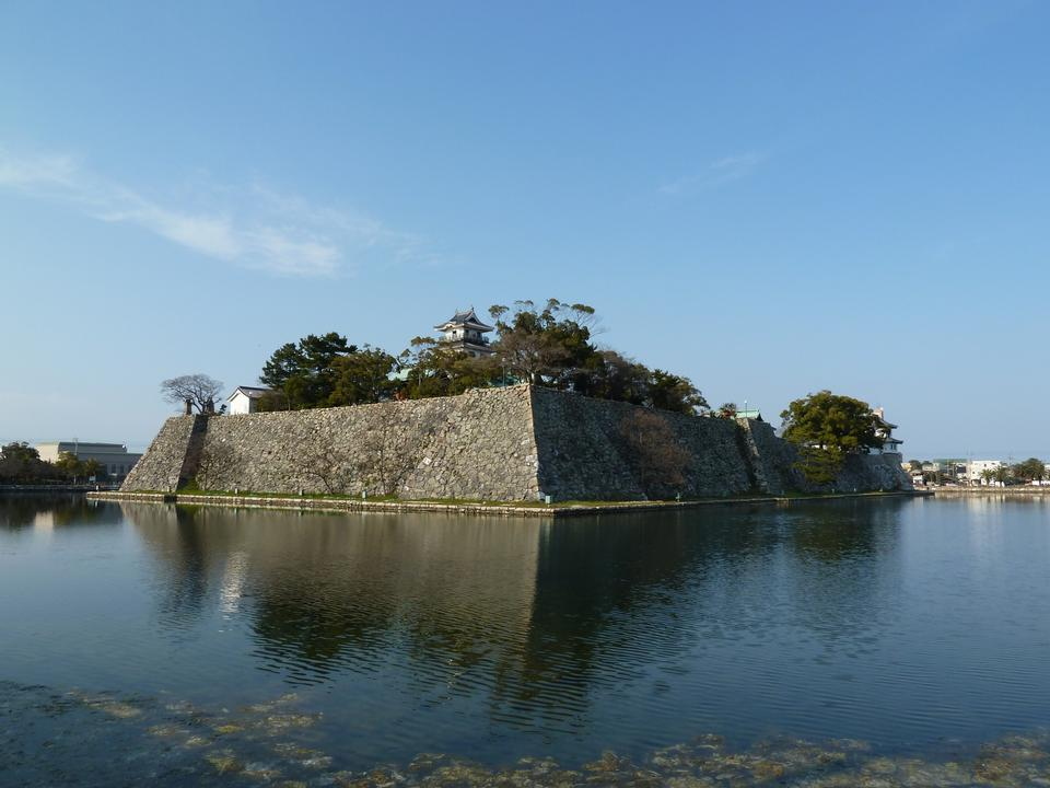 一位日本城堡在四國