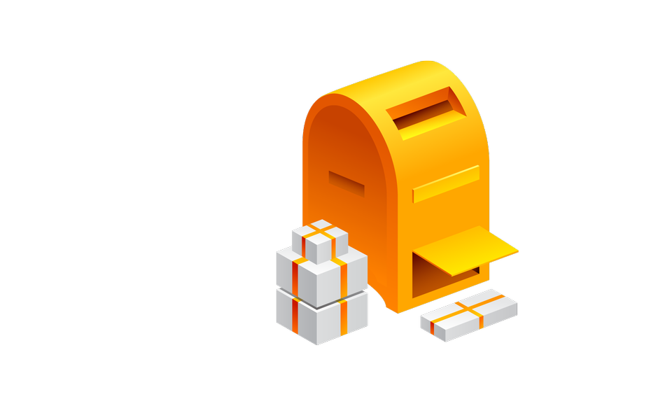 Post box and package icon