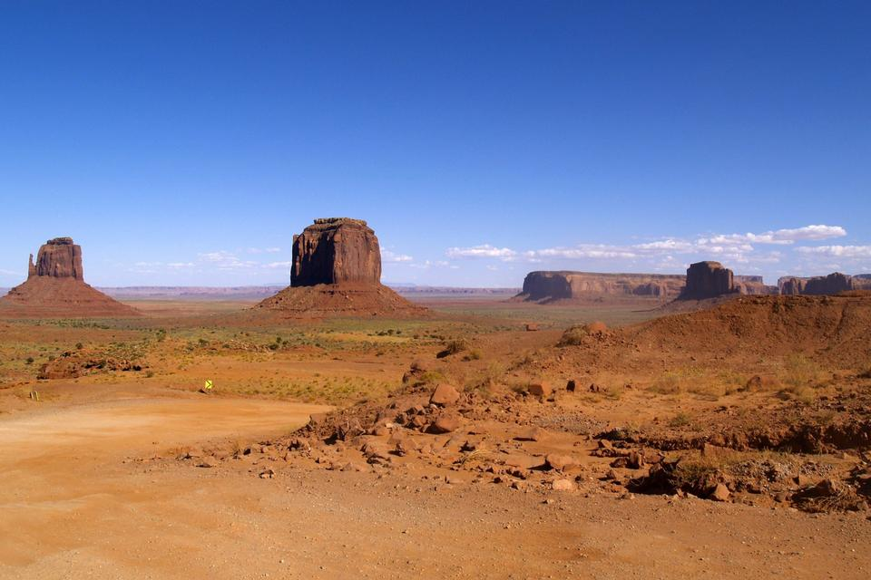 Visualizzazione classica di Monument Valley Tribal Park, Arizona