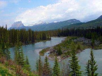 Descarga gratis la imagen de alta resolución - Río Bow en Banff, Alberta, Rockies canadienses, Canadá