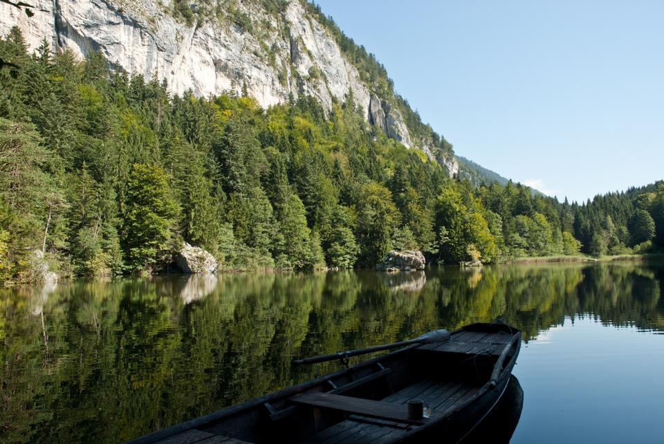 Berglsteiner See lago del Tirolo, in Austria