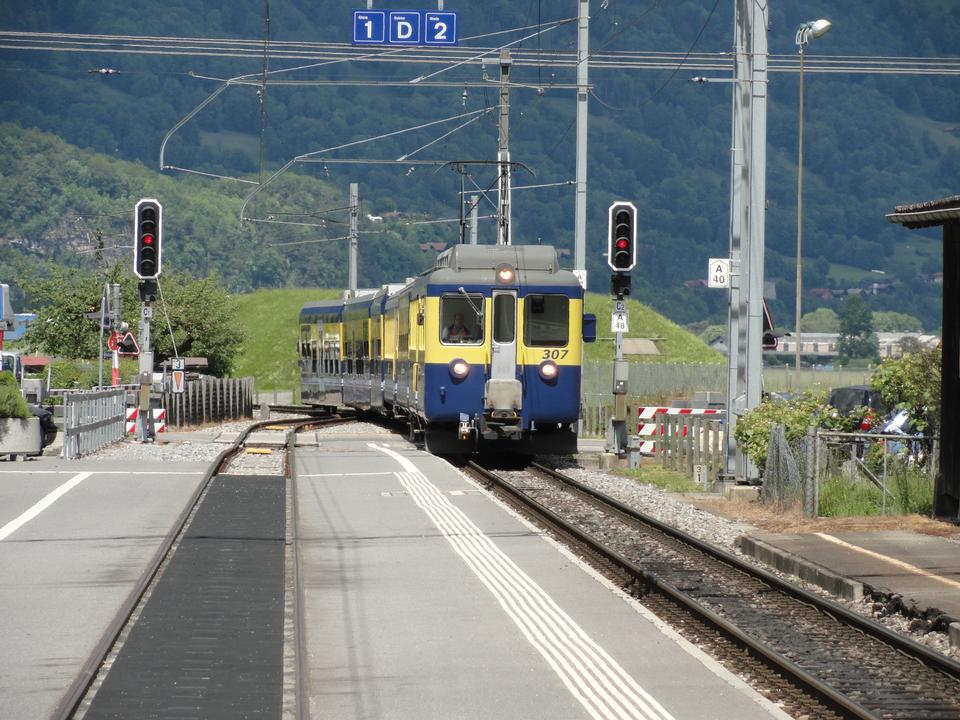Grindelwald Railwaystation, Berner Oberland, Switzerland