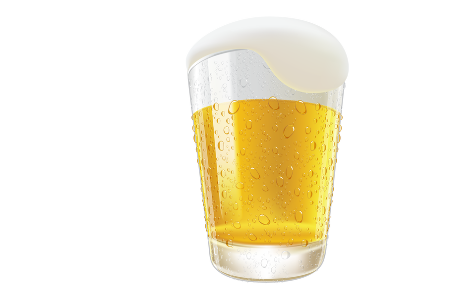 Verre de bière légère