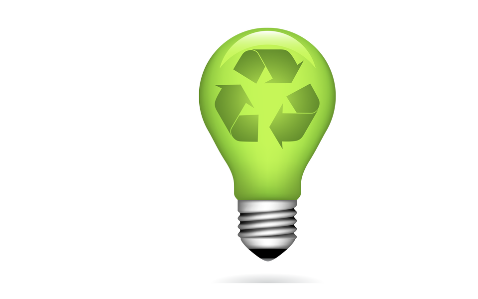 緑色電球環境コンセプト