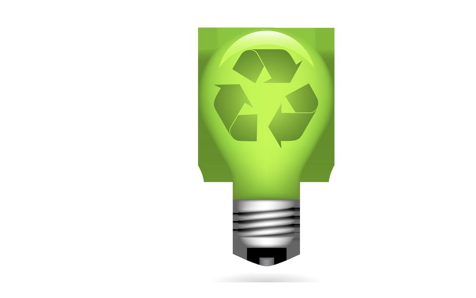 Luce verde concetto di ambiente bulb