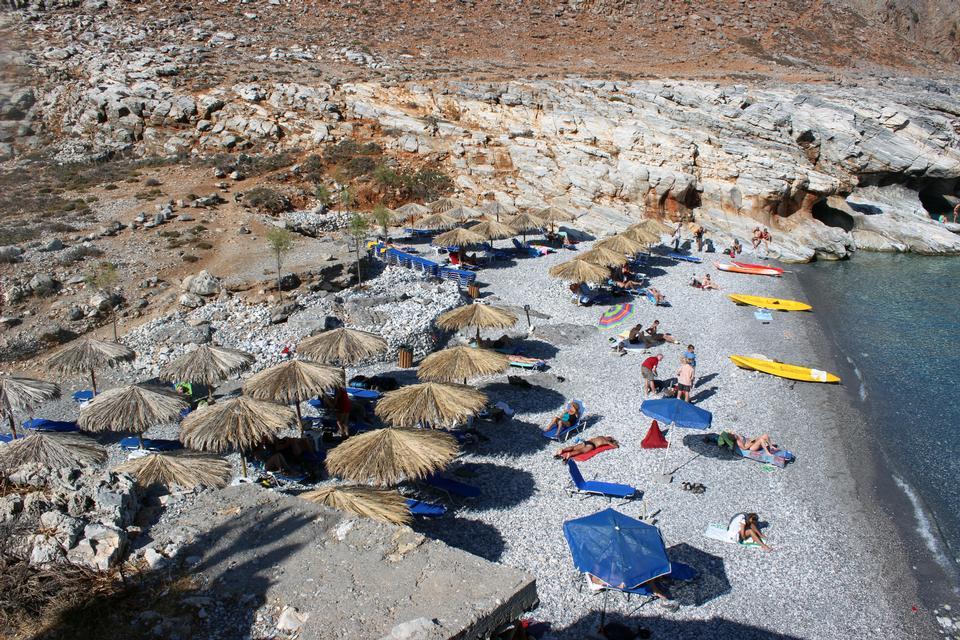 Isola di Marmara Beach di Creta, in Grecia